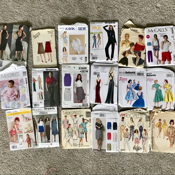 Vintage Other | Lot Of Sewing Patterns | Poshmark